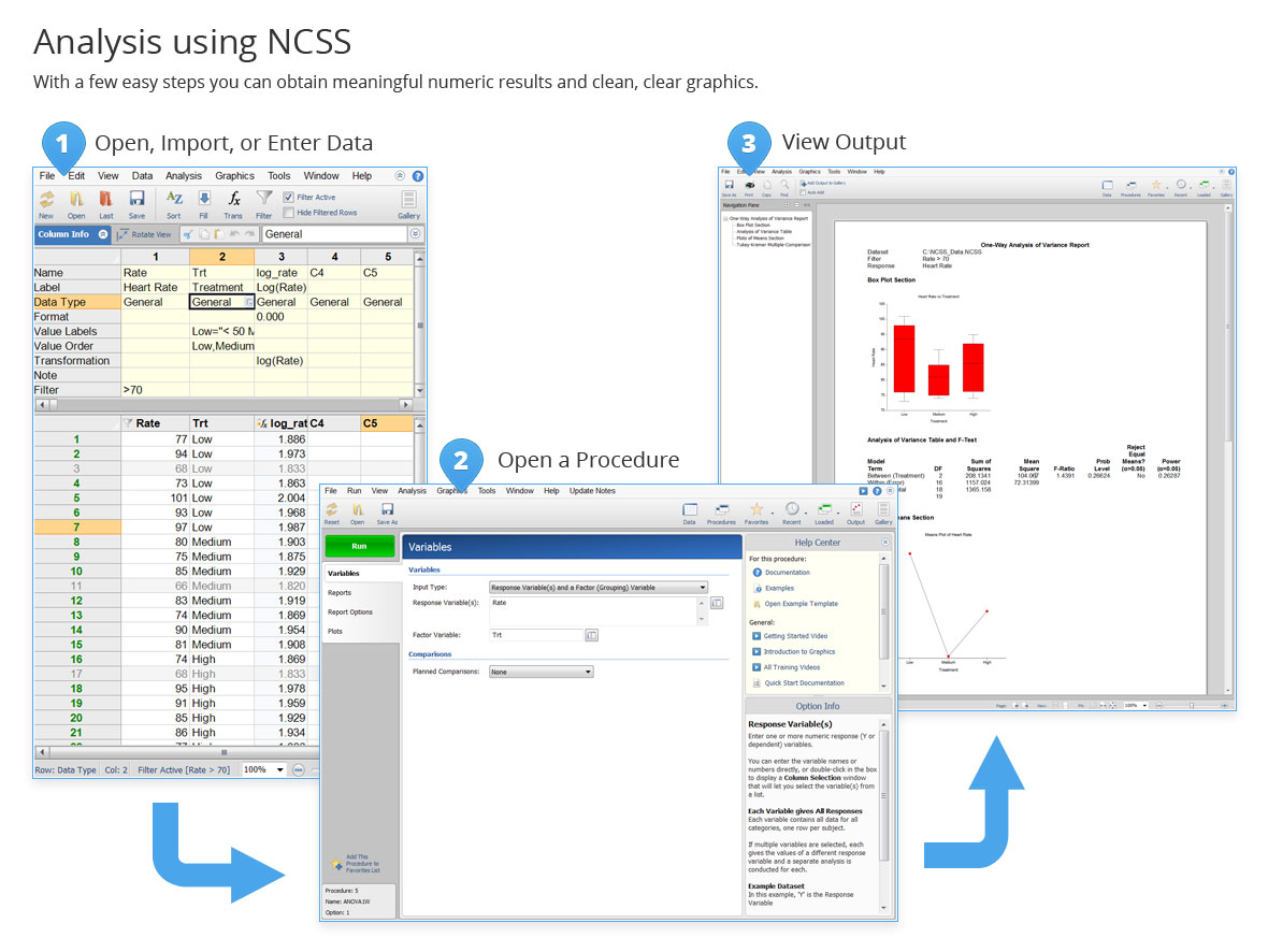 How to run an analyse in NCSS