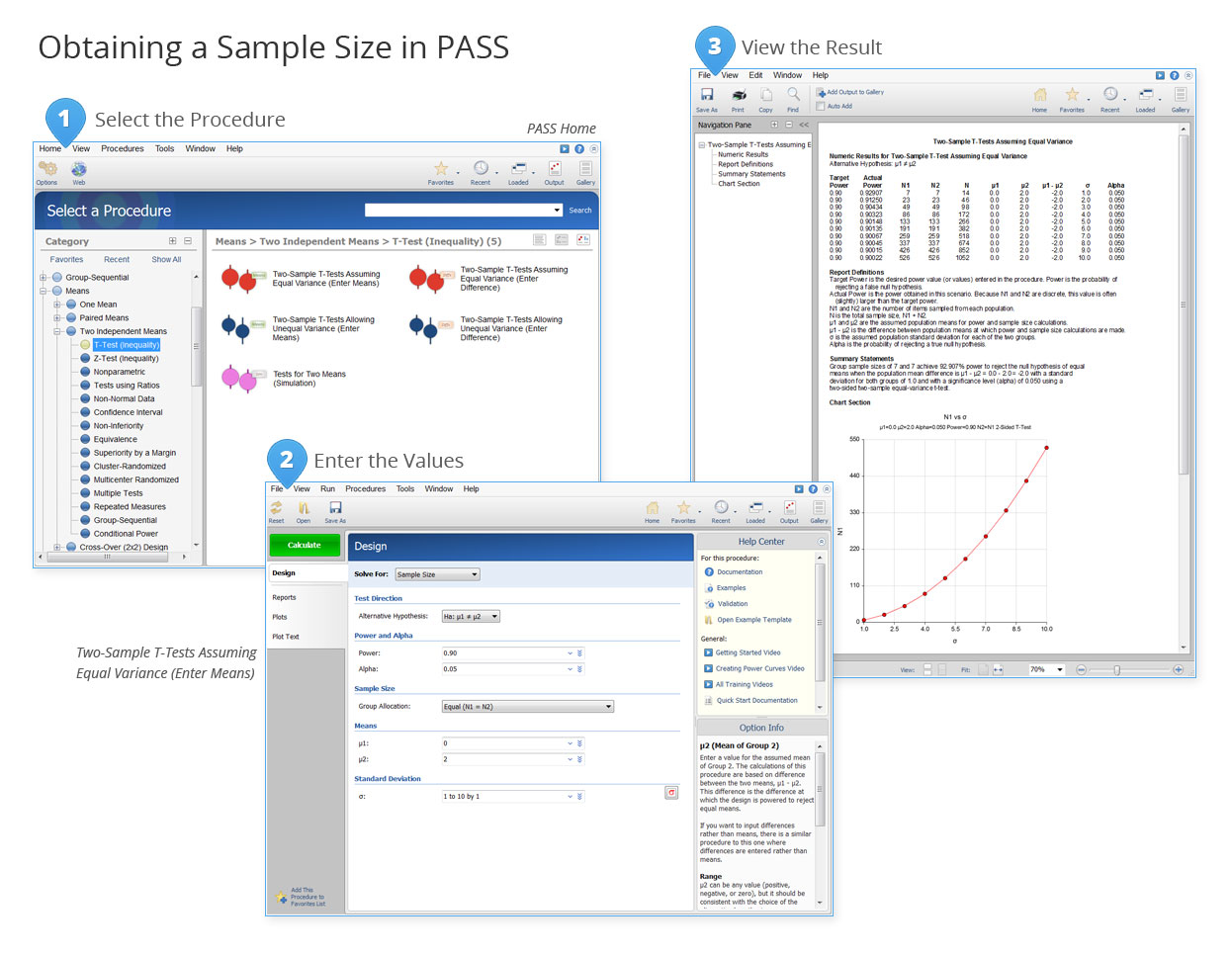 Obtaining a Sample Size in PASS